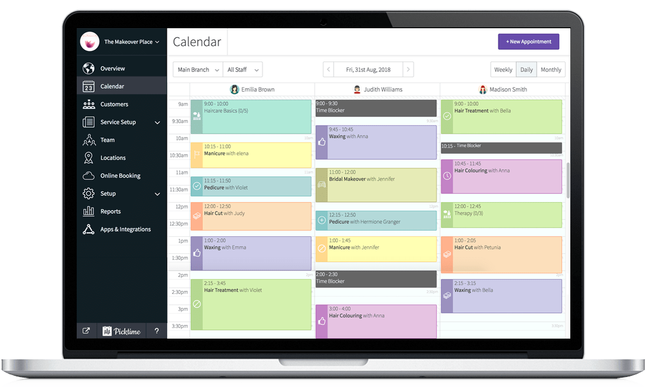 Picktime - Online Appointment Scheduling Software and Booking System